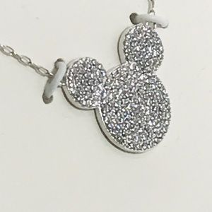 Mickey Mouse cubic zirconia Crystal necklace.
